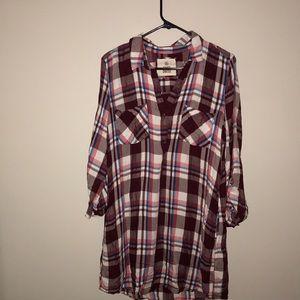 Women's plaid shirt dress size XL